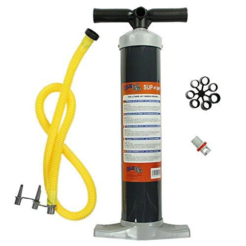 Blueborn Hochdruck SUP Pumpe 1 bar Luftpumpe Kolbenpumpe für Hochdruckventile + 3 Adapter Luftdüsen