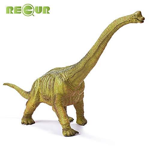 RECUR Juguetes Dinosaurio jurásico Brachiosaurus Juguetes Plástico Blando Pintado a Mano Modelo Dinosaurio prehistórico Jurásico Figuras Regalo de cumpleaños para niños Niños Niñas