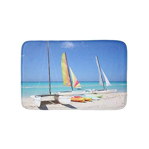 Badematte für Kajaks, Katamarans und Kajaks, Kubanischer Strand-Badteppich, rutschfest, weich, saugfähig, Badvorleger, Duschboden, 40,6 x 61 cm