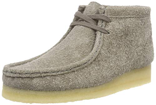 Clarks Originals Damen Wallabee Boot Stiefeletten, Grau (Grey Interest), 38 EU