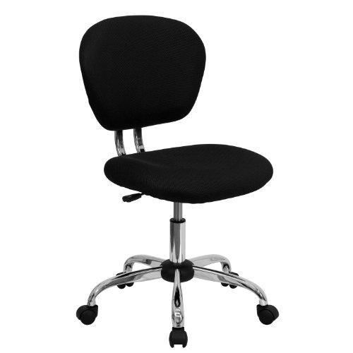 Flash Furniture Mid-Back Black Mesh Padded Swivel Task ...