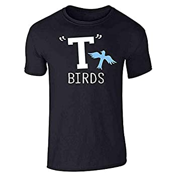 T Birds Tbird Costume Men Gang Logo Retro 50s 60s Black XL Graphic Tee T-Shirt for Men