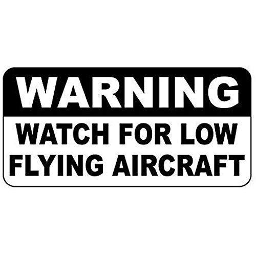 BDTS waarschuwingshorloge voor laagvliegende vliegtuigen metalen tin teken 8x12 inch
