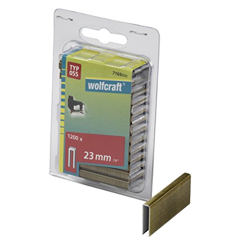 Wolfcraft 7169000 Punti a Dorso Sottile, Tipo 055, 23 mm