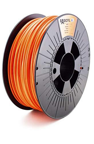 Basicfil PET 2.85mm, 1 kg filamento per stampante 3D, Arancione