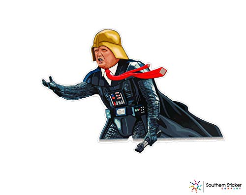 Darth idious Donald Trump Vader 4x4.5 Size inches Bumper Sticker Love Baby Laptop car Window Truck Adventure Outdoors - Made and Shipped in USA