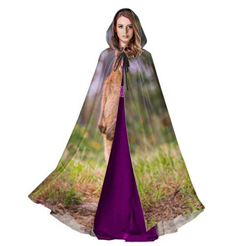 Rtosd EIN Känguru Aufstehen In Graslandhaubenmantel Frauen Kinder Cape Mantel 59 Zoll Für Weihnachten Halloween Cosplay Kostüme