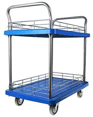 MJY Wagen, Einkaufs Cartflatbed, Klein-Lkw Trolley Truck Pickup Lkw-Werkzeug Wagen Mute