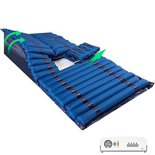 Luftmatratze Anti-Dekubitus Medizinische Kissen mit Quiet Kompressor aufblasbarer Wechseldruckmatratze Kann Turn-up-Luft-Bett for Bettlägerige Seien Senioren Patient Home Care Air Pad Mat