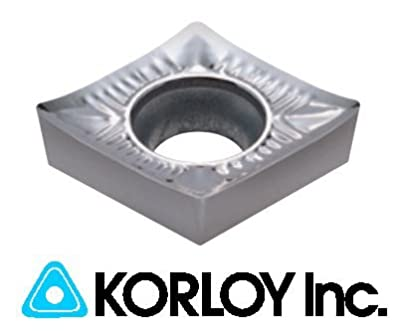 10pc) Korloy CCGT 21.505-AK H01 060202 Indexable Carbide Inserts