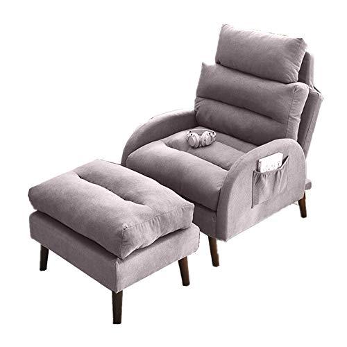 N / C Sofá Perezoso, sillón Individual, balcón, Respaldo Plegable, sillón reclinable para el Almuerzo, Dormitorio, Tatami, Cabeza y pies Ajustables, Espuma viscoelástica, con Almohadas