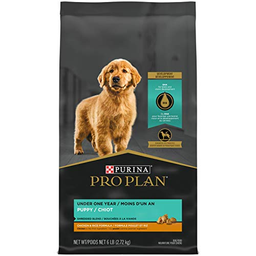 Purina Pro Plan High Protein Puppy Food Shredded Blend Chicken & Rice Formula - 6 lb. Bag