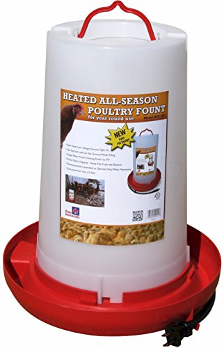 Farm Innovators Model HPF-100 'All-Seasons' Heated Plastic Poultry Fountain, 3 Gallon, 100-Watt