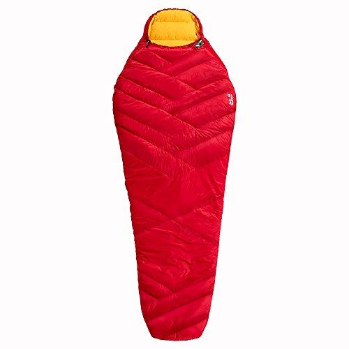 Jack Wolfskin Pounder Hybrid -6°C 3-Jahreszeiten-Schlafsack, Red Fire