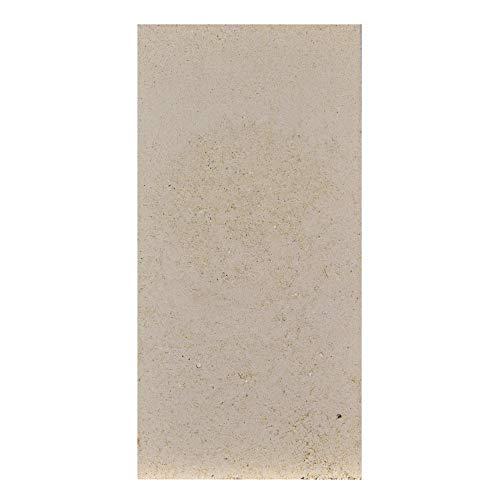 FIREFIX 2075 2050/1 Schamottestein (formgepresst) 20 mm stark, Abmessung 250 x 124 mm, Gelblich