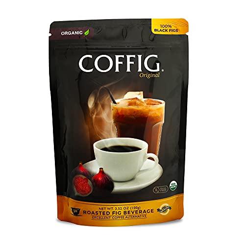 Organic Coffig Original, Roasted Fig Beverage, Excellent Coffee Alternative, Caffeine-Free Healthy Drinks, 3.52oz (100g)