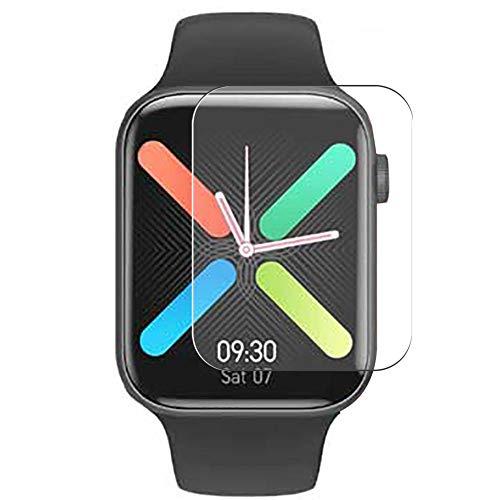 Vaxson 3 Unidades Protector de Pantalla, compatible con K8 IWO Max smart watch Smartwatch [No Vidrio Templado] TPU Película Protectora