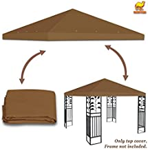 Stromg Camel 10' x 10' Canopy Top Cover Patio Pavilion Replacement Gazebo Top (Brown)