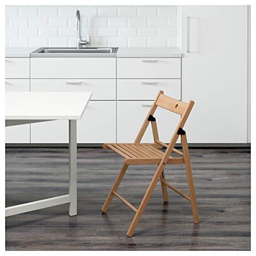 DiscountSeller TERJE Klappstuhl, Buche, 44 x 51 x 77 cm, robust und pflegeleicht. Klappbare Stühle, Esszimmerstuhl, Stühle, Möbel, umweltfreundlich.
