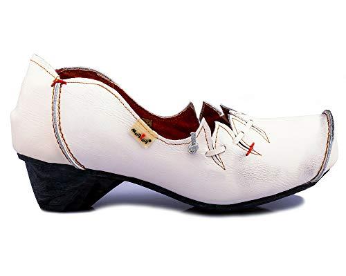 TMA 8787 Damen Pumps Leder weiß - EUR 42