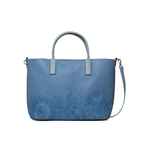 Desigual Bag Double Gin_holbox Women - Borse a spalla Donna, Blu (Azul Nube), 17x30.5x37 cm (B x H T)