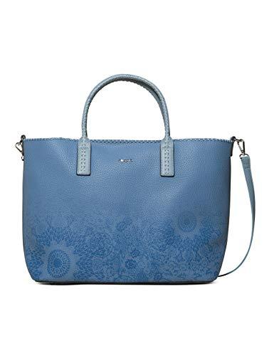 Desigual Bag Double Gin_holbox Women - Borse a spalla Donna, Blu (Azul...