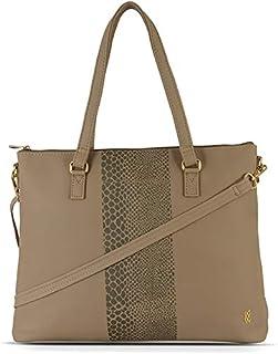 Baggit Women's Synthetic Tote Bag (Beige)