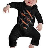 Naruto Nine Tails Baby Boys Girl Clothes 100% Cotton Long Sleeve Romper Bodysuit Jumpsuit Winter Outfits Black