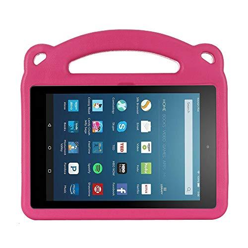 Funda protectora para tablet Kindle Fire HD 8 (versión 10ª generación de 2020) y Fire HD 8 Plus 2020, EVA ligera, a prueba de golpes (magenta)