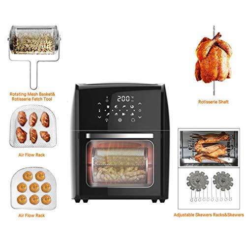 41AuObtB8fL. SL500  - Digital Fry Air Fryer Toasterofen, Dörrgerät, mit 8 Voreinstellungen, inklusive Zubehör, zum Braten, Braten, Grillen, Backen, gesund ölfrei, 10 l, schwarz