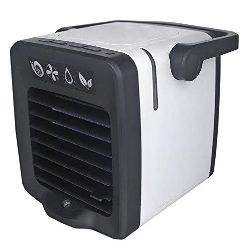 CUHAWUDBA USB Aire Acondicionado Portátil Arctic Air Cooler Humidificador Purificador Led Light Personal Space Fan Ventilador de Enfriamiento de Aire