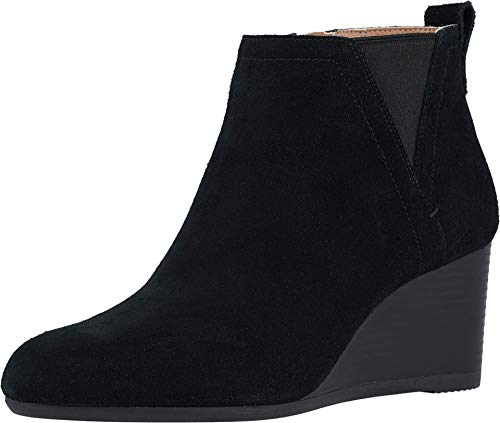Vionic Women's Parkwood Paloma Wedge Ankle Boots - Ladies Booties with Concealed Orthotic Arch Support Black 9.5 M US