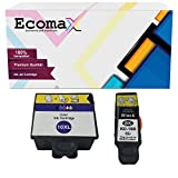 Ecomax 2er Set Druckerpatronen kompatibel zu Kodak 10 (10B