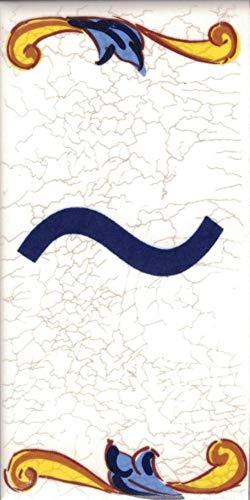 TORO DEL ORO Hausnummern, Zahlen und Buchstaben auf Fliesen, Keramik, Craquelé-Stil, Namen und Adressen, mittelgroßes Craquelé-Design 5 x 10 cm