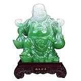 Xilinshop Feng Shui Fortune Happy Buddha Statue - Assis Rire Bouddha Feng Shui Figurines Richesse et Bonne Chance for la Maison et de Bureau Décoration Happy Cadeaux Feng Shui Figurines