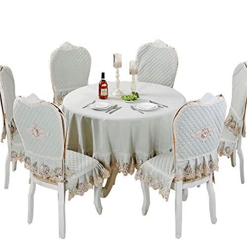 Ronde tafel van kant stof voor thuis tafelkleed rijst tafelkleed Little
