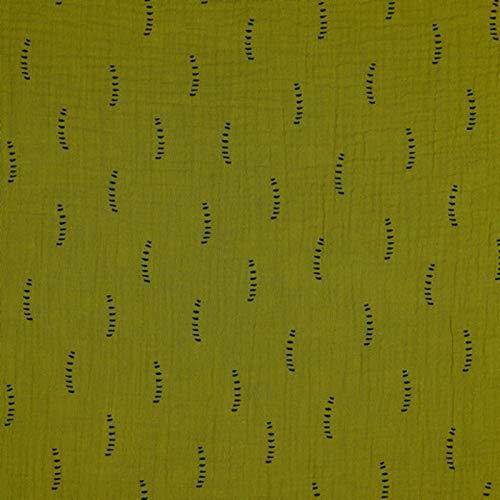 Hans-Textil-Shop Stoff Meterware Feine Streifen Bio Baumwolle Musselin/Doppel-Gaze -...