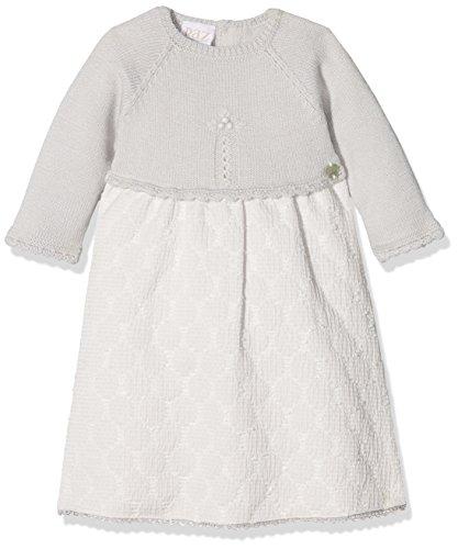 PAZ Rodriguez 008-80772 Vestido, Gris (Perla), Recién Nacido (Tamaño del Fabricante:1M) para Bebés