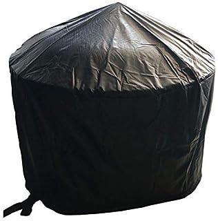 Jinfa Schutzhülle für Feuerschale und Grill im Freien mit Durchmesser66cm oder Durchmesser70,5cm Durchmesser - wasserdichte Abdeckung mit Kordelzug