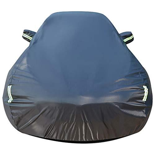Funda para Coche Tamaño compatible con Kia Niro coche cubierta All Weather impermeable y cortaviento de coches UV cobertura universal llena de ropa de apertura de carros de tela Oxford cubierta del co