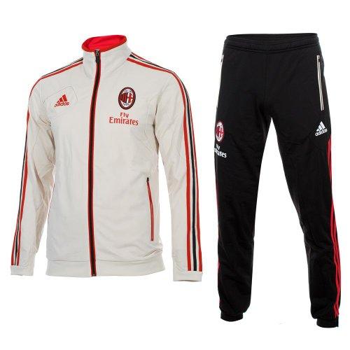 adidas - Chándal de Entrenamiento de la AC Milan 2012-13, diseño Estrecho semiadherente, Producto Oficial Negro Negro Talla:50 - L