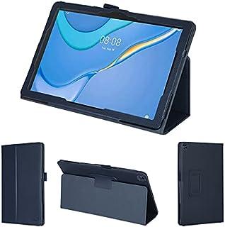 wisers 保護フィルム・タッチペン付 MatePad T10 AGR-W09 9.7 インチ Huawei ファーウェイ タブレット ケース カバー [2021 年 新型] ダークブルー
