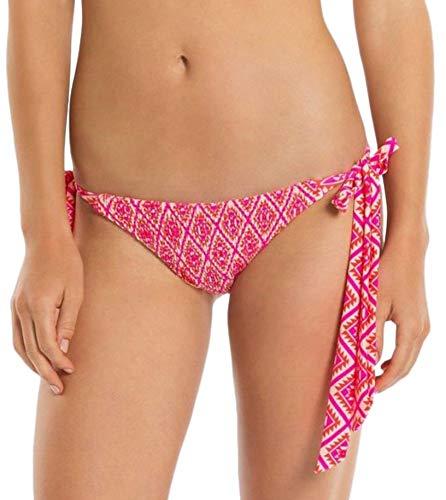 Tori Praver Seafoam Women's Scarf Tie Bikini Bottom (Fuchsia Pink Tribal, X-Small)