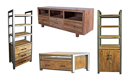 Muebles de madera de teca maciza de Opium Outlet, 11 piezas,