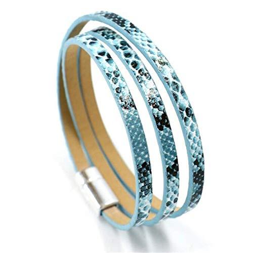 ZYJ Fashion Luipaard Charm Armbanden Voor Vrouwen Goud Kleur Knop Vintage Lederen Armband Kerst Punk Sieraden|Bedel Armbanden|
