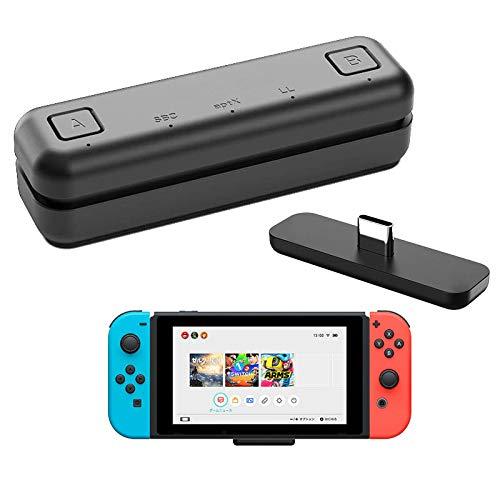 WeChip Adaptador de transceptor USB de Audio Bluetooth Route Air para Nintendo Switch/Switch Lite / PS4 / PC, 5 mm, sin retraso, Plug and Play