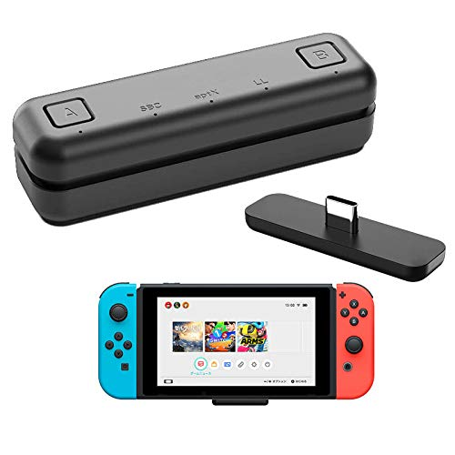 WeChip Route Air Bluetooth-Audio-USB-Transceiver-Adapter für Nintendo Switch/Switch Lite / PS4 / PC, 5 mm, verzögerungsfrei, Plug-and-Play