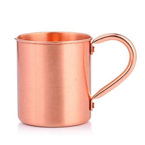 Tidyard Taza de Cobre Taza de Cobre sólido Taza de Bebida de 14 onzas para Tazas de cóctel de Bar en casa con asa de Agarre