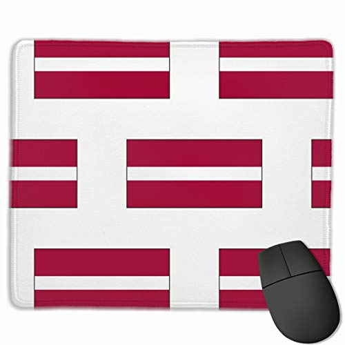 Latvian Flag Large_41582 Mouse pad Custom Gaming Mousepad Nonslip Rubber Backing 9.8