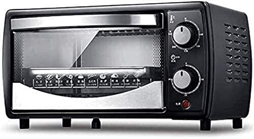 Toaster oven,Compact Mini Electric Oven,Mini Oven and Grill with Double Hot Plates,Mini Oven with Electric Grill,Mini Household Baking Oven, 30 Minutes Rotation Timing (Color : Black)
